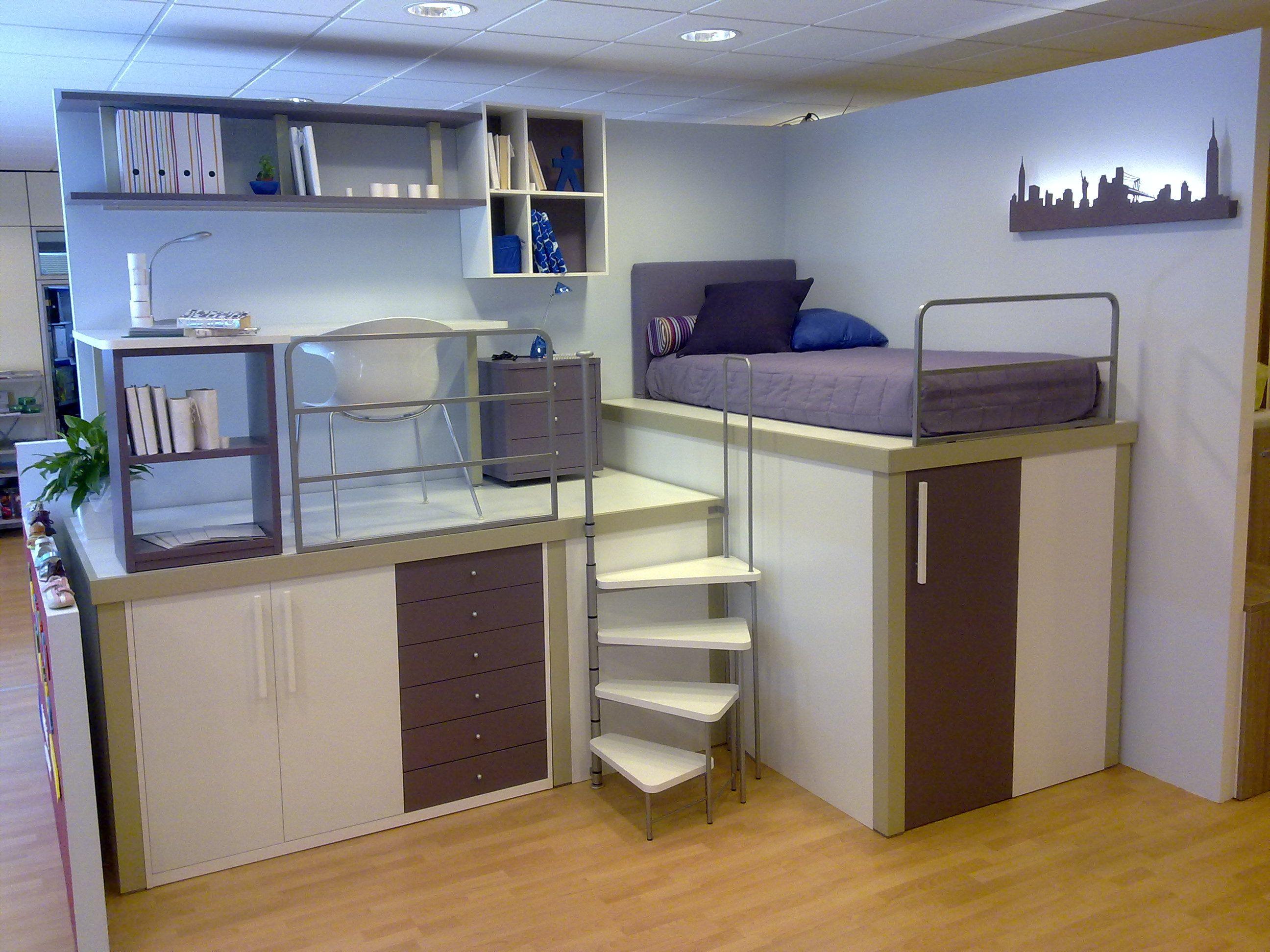 Soppalco per lei idee pinterest soppalco camerette - Camerette per stanze piccole ...