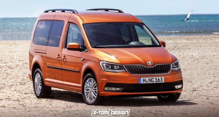 2016 skoda roomster rendered close to production model. Black Bedroom Furniture Sets. Home Design Ideas
