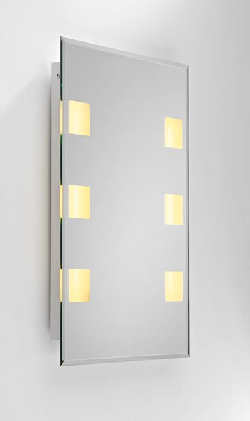 Dar NEP92 Neptune - IP44 Medium 6 Light Illuminated Bathroom Mirror With Sensor