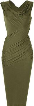 Donna Karan Majolica Cap-Sleeve Twist Dress