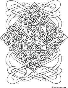 Complex Celtic Coloring Page Design