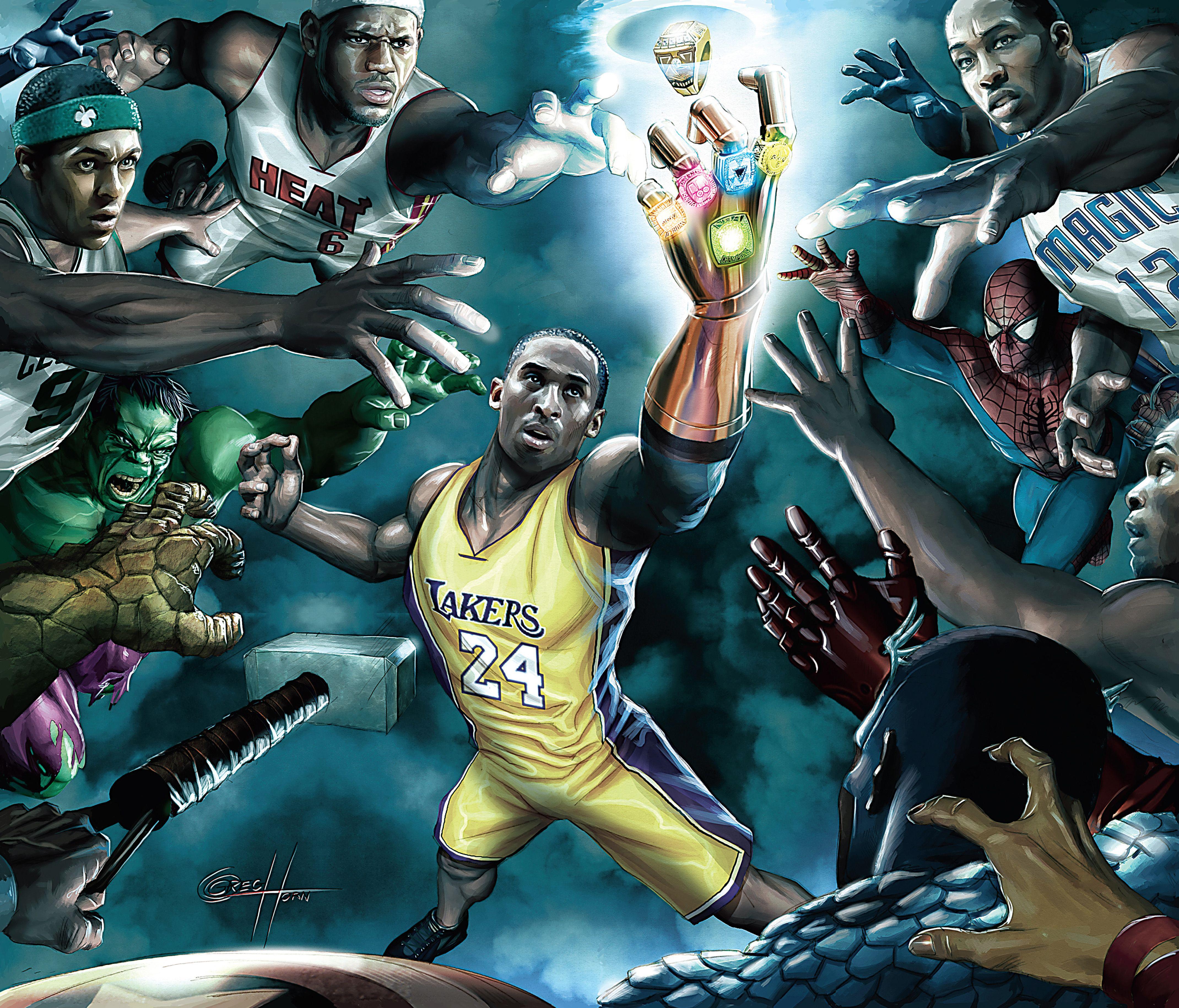 Super hero Jogadores nba, Basquete, Esportes