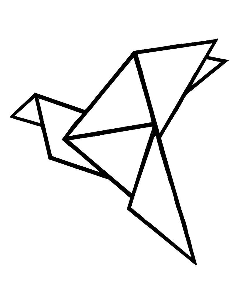 Origami bird Art Print by Bridget Davidson - X-Small