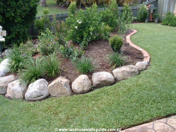 Brick Garden Edging Photograph Rock Landscape Edging Wallp