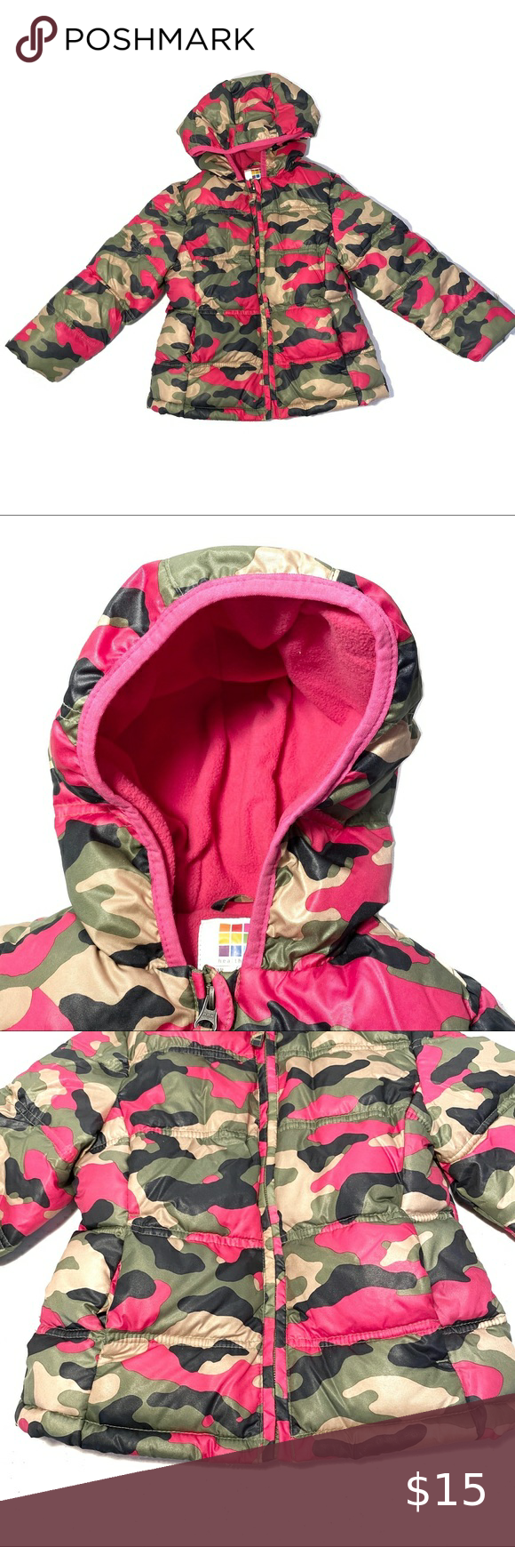 Healthtex Puffer Jacket 4t Camouflage Pink Pink Camouflage Camouflage Puffer Jackets [ 1740 x 580 Pixel ]