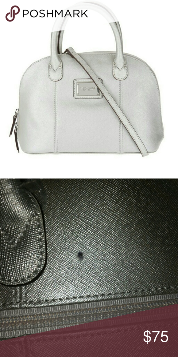 Tignanello Saffiano Leather RFID Domed Satchel Brand new with a minor flaw. Took pictures of it above. Other than that brand new . Color oyster. Tignanello Bags Satchels