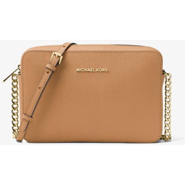 1817afc8c9cc MICHAEL Michael Kors MICHAEL Michael Kors Jet Set Large Saffiano... ( 148)  ❤ liked on Polyvore featuring bags