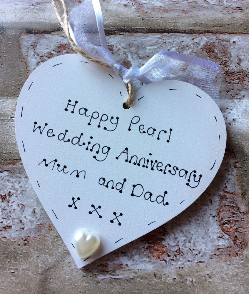Details about personalised handmade pearl/30th wedding