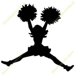 cheerleader silhouette clip art bing images cheerleading rh pinterest com cheerleader clip art images free cheerleading clipart images