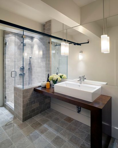 Contemporary Bathroom Pedant Lighting Ideas For Small Bathrooms