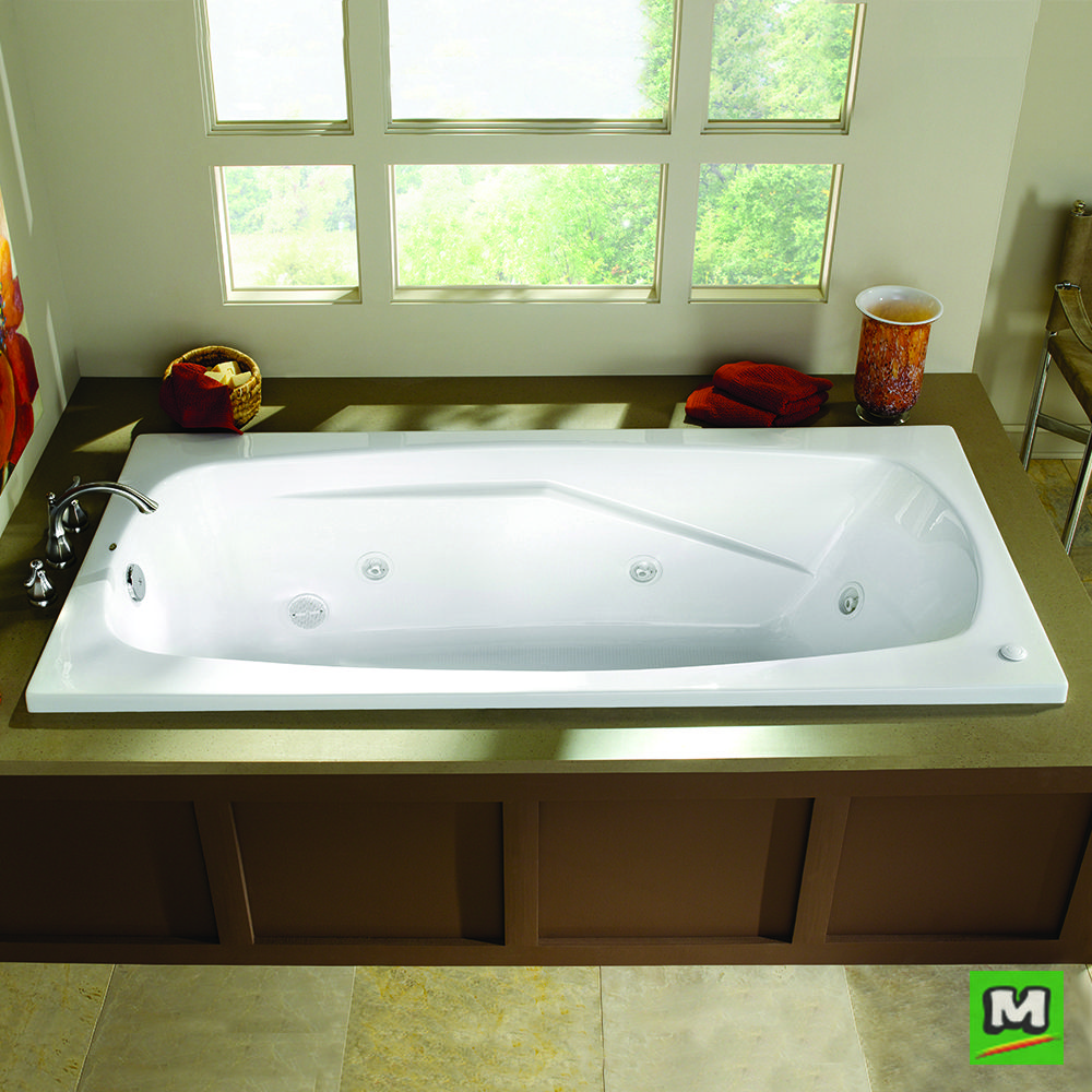 Immerse yourself in an Eljer Cascada Acrylic Whirlpool. This drop-in ...