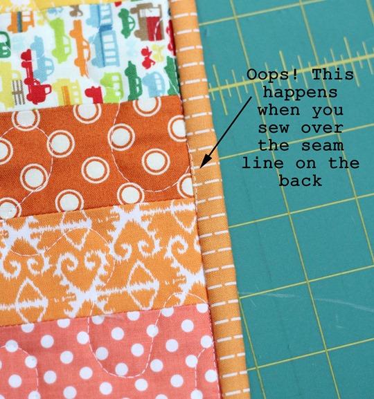Quilt Binding Tutorial, Sewing