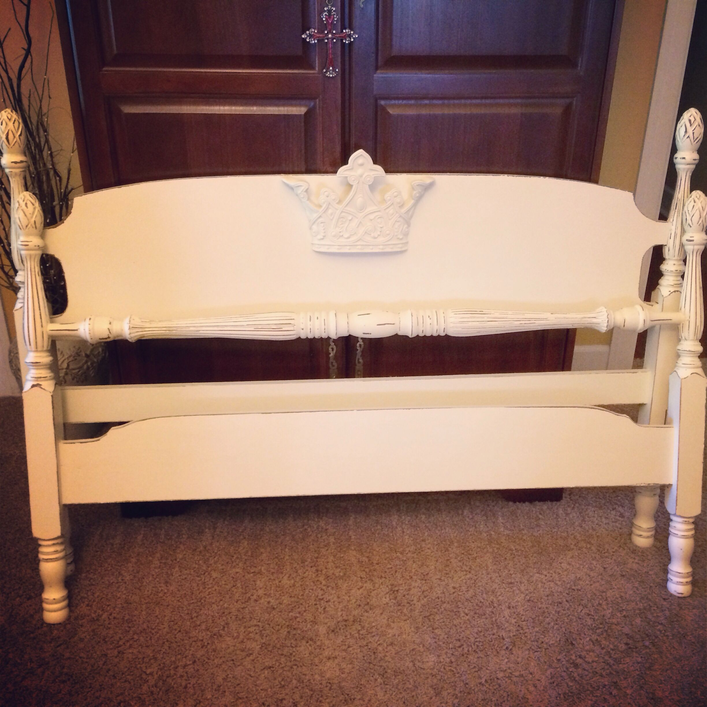 Repainted this maple bed and added a precious crown for a ...