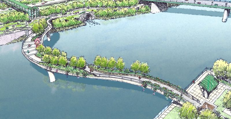 A proposed pedestrian bridge that will cross the mohawk for Design bridge amsterdam