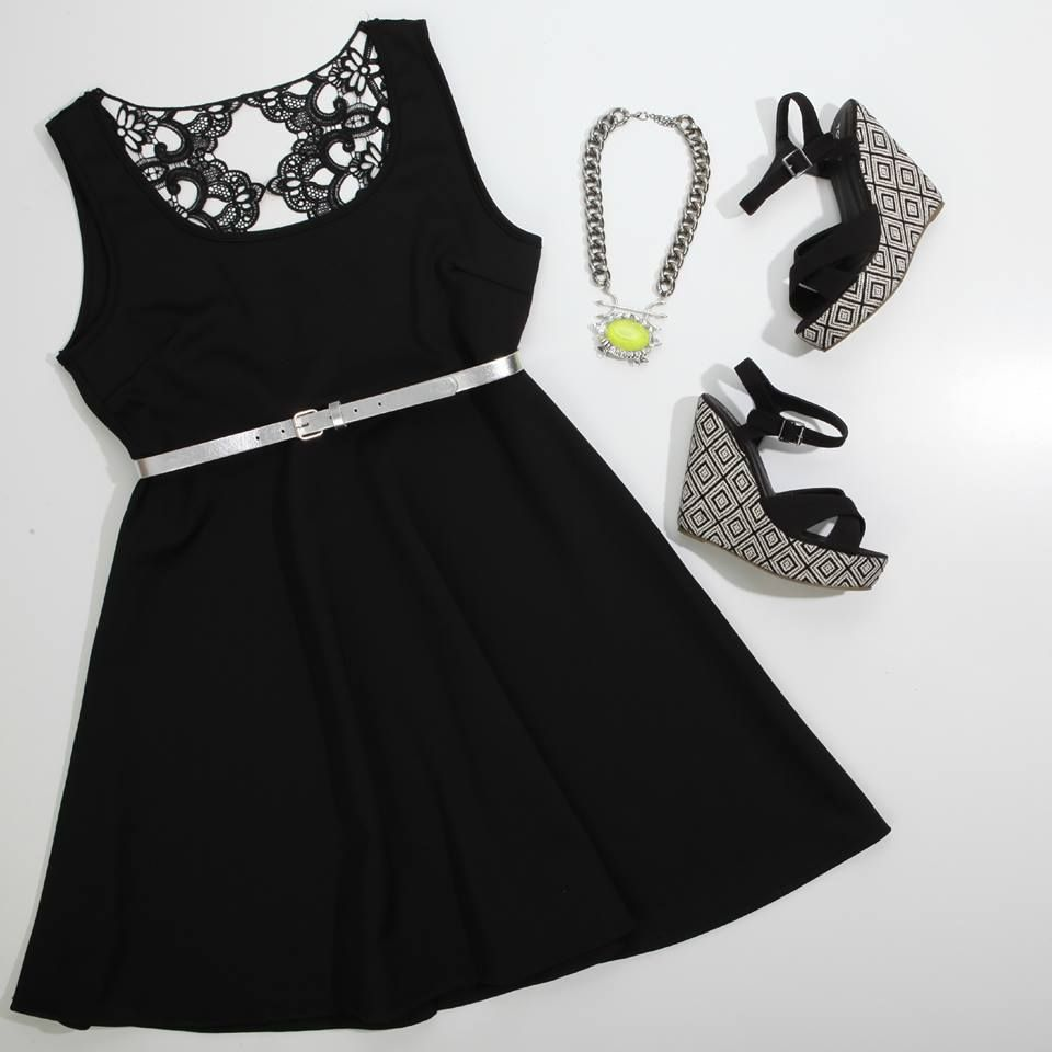 a3d3d6264ab Lace backed skater dress