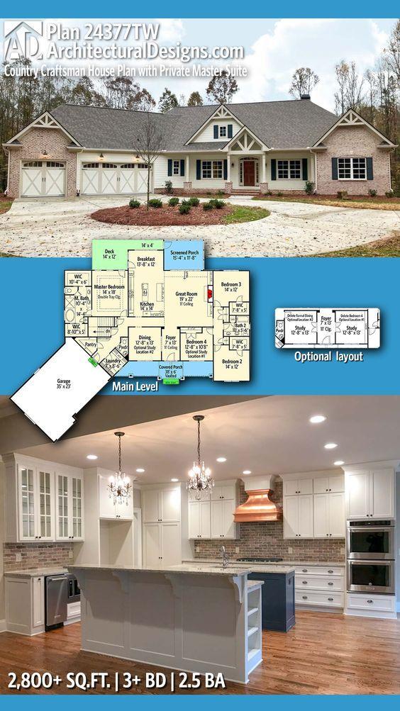 Plan 14649RK Exciting Craftsman House Plan