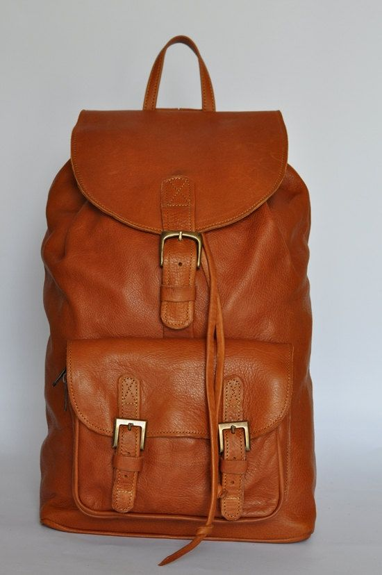 Tan Genuine Leather Backpack | Shops, Africa and Leather backpacks