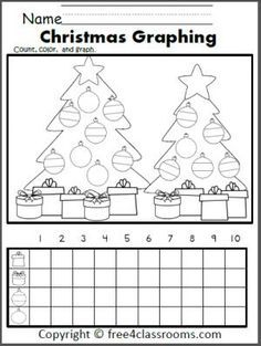 Free Christmas Graph Worksheet. Fun December preschool ...