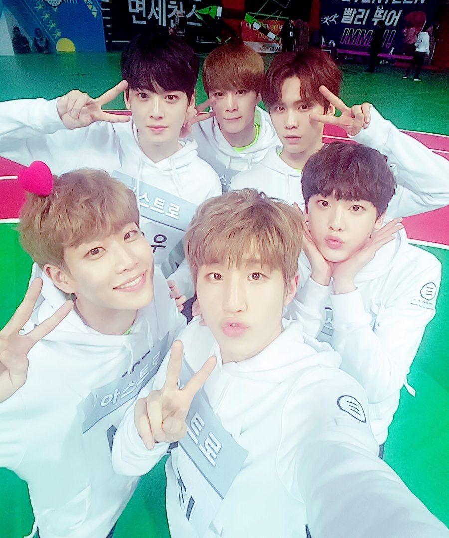 Eunwoo•이동민|Moonbin•문빈|Rocky•박민혁|MJ•김명준|JinJin•박진우|Sanha•윤산하