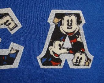 Sigma Alpha Iota - Mickey Letters on Short Sleeved T-Shirt