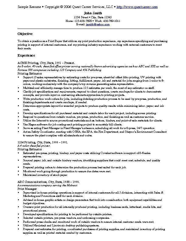 Resume Example Resume Examples Free Resume Samples Job Resume Samples