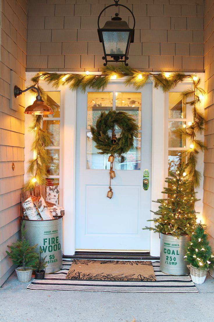 Our Modern Farmhouse Christmas Home Tour Christmas door
