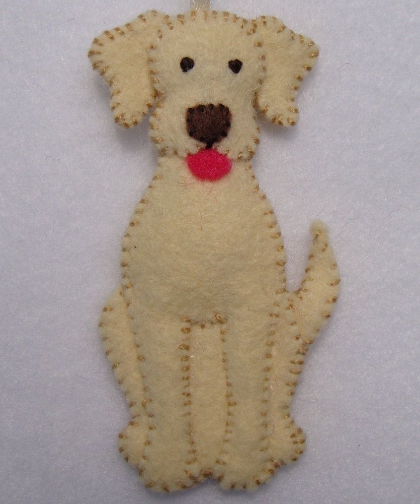 3 felt dog ornament via etsy phabulous felt for Homemade christmas ornaments to make