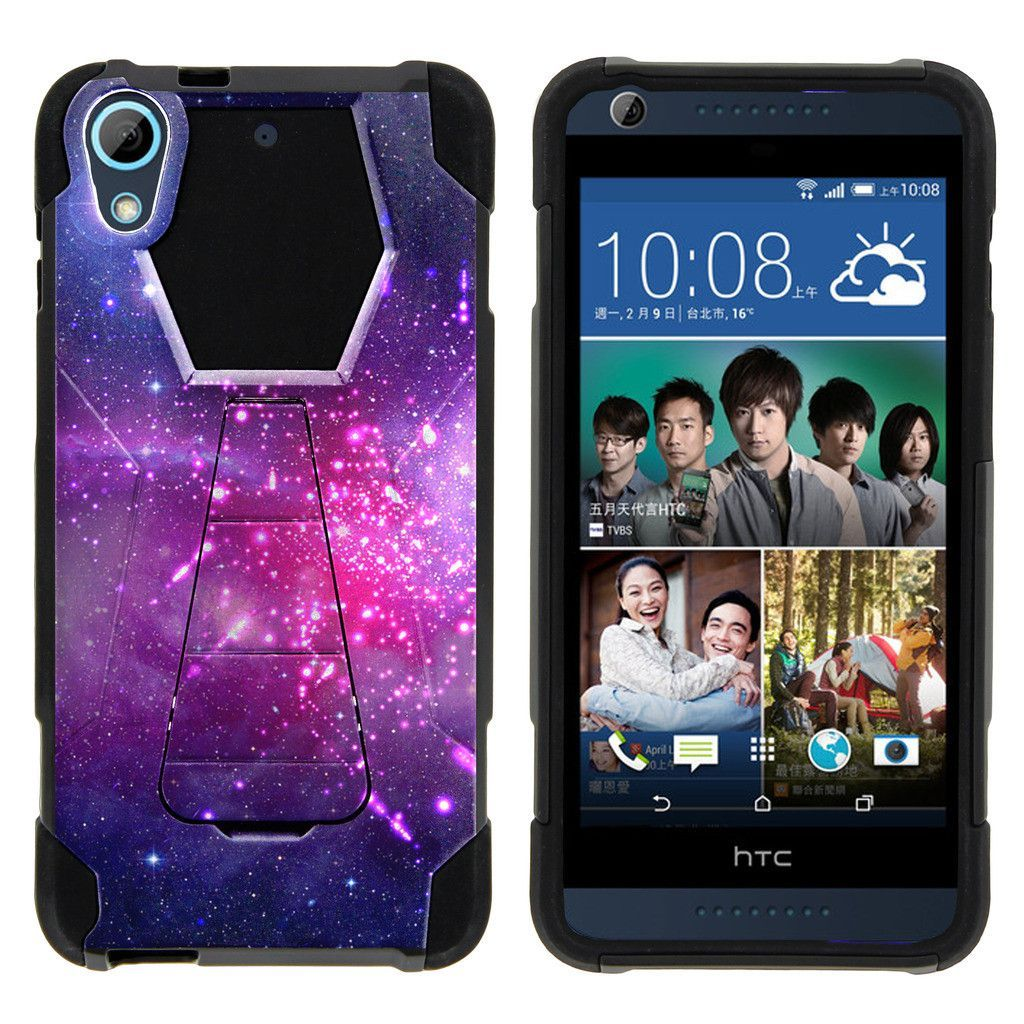 HTC Desire 626 Case SHOCK FUSION High Impact Hybrid Dual Layer Kickstand - Heavenly Stars