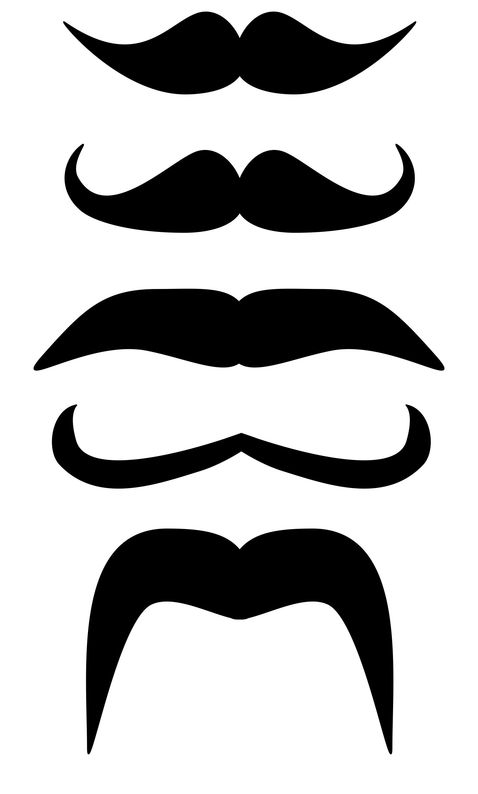 photograph regarding Printable Mustaches referred to as Printable mustache slice outs! Print out and Display Your Mo