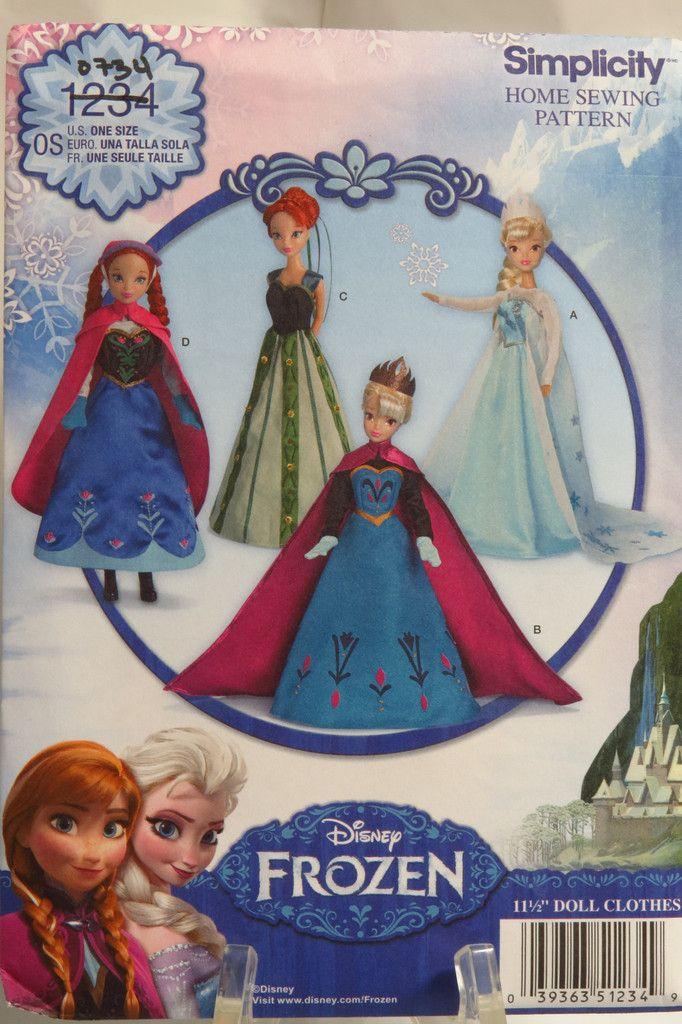 Simplicity 1234 Disney Frozen 11½\