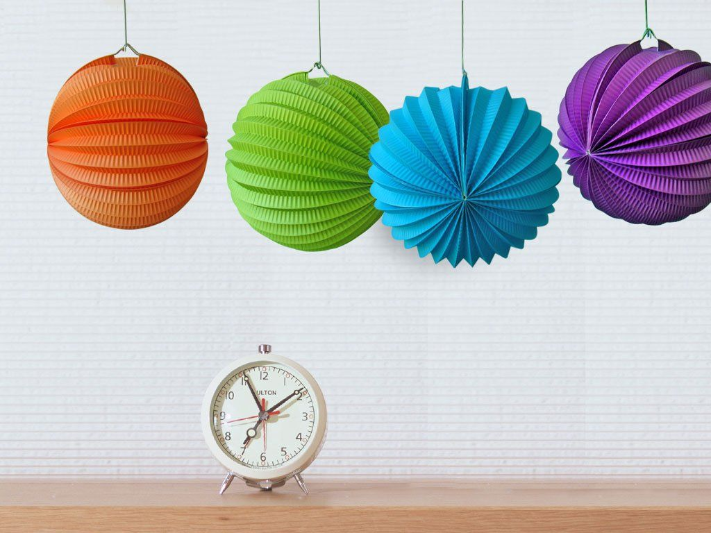 How To Make Paper Balls For Decoration Accordion Paper Ball Party Decoration  Multicolour Orange Lime