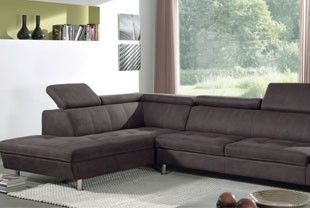 Canapé d angle gauche marron en PU DURAM