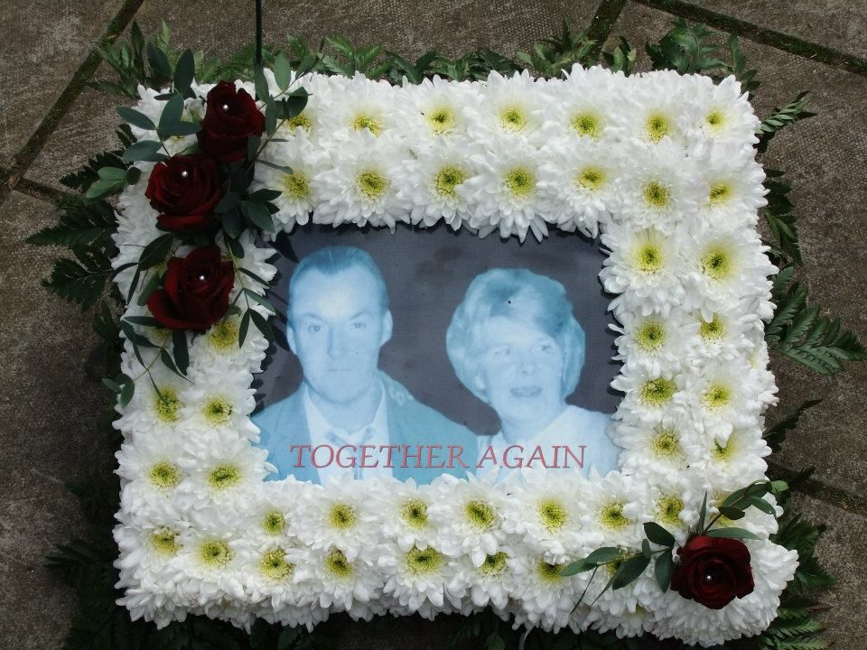 flowers by ems stems my cousin picture frame design funeral flowers with sprays