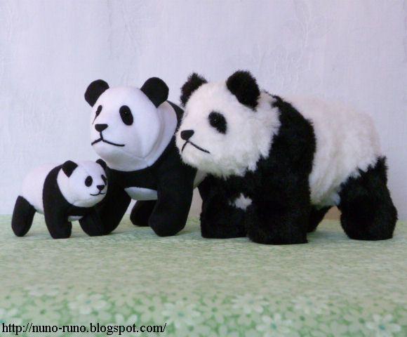 Runo: Small panda - softie - free Doudou panda Patron + tutoriel ...