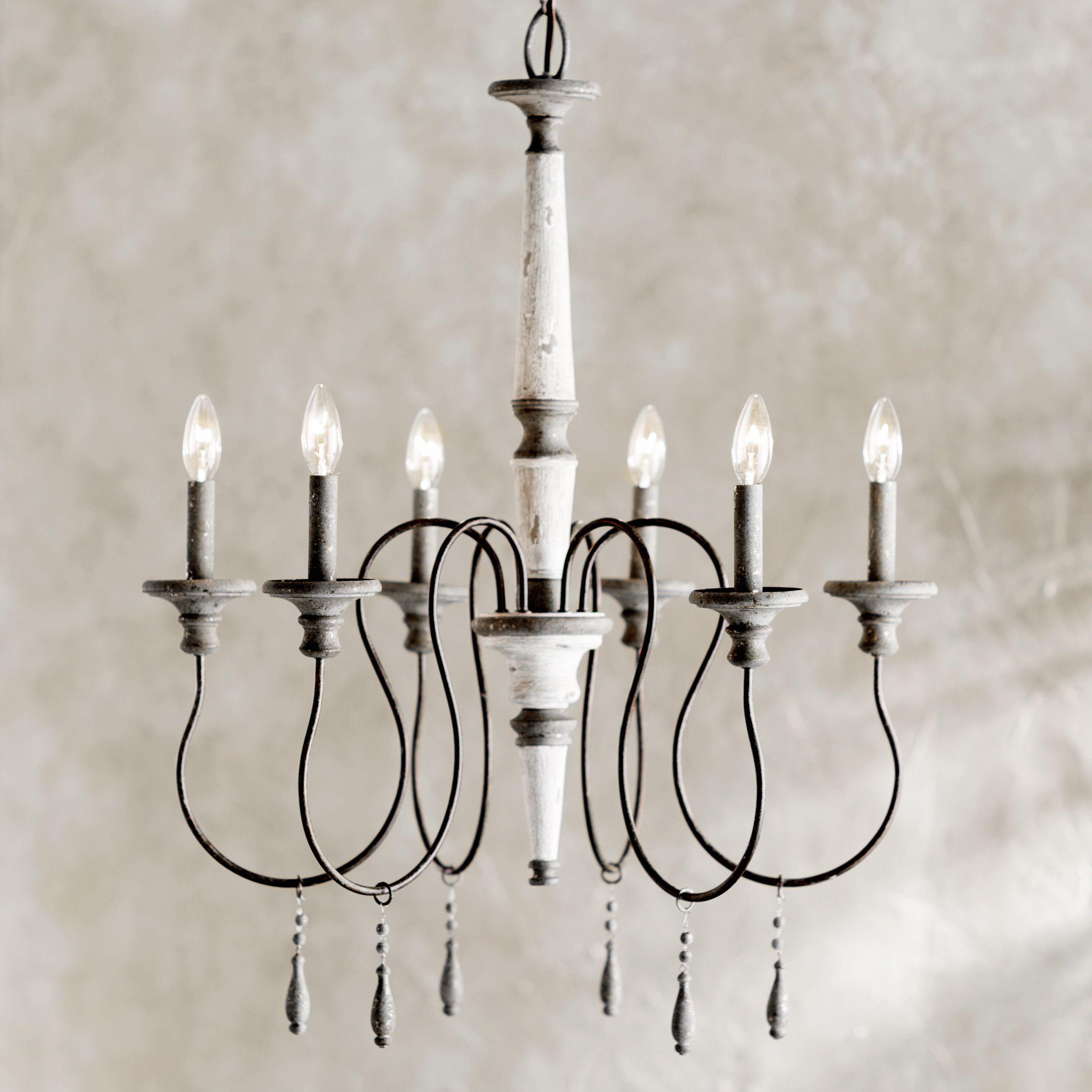 $224 Lark Manor 6 Light Chandelier Lighting