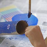 What Should I Paint Cardboard With When Doing Crafts? | eHow