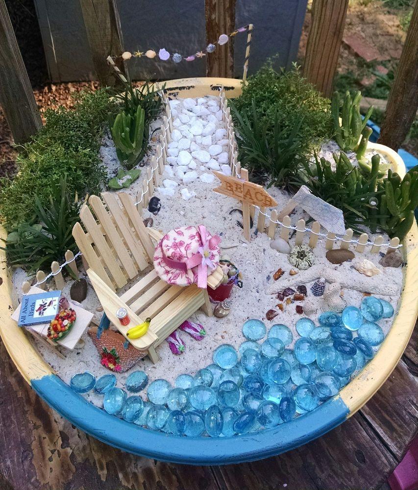 Miniature Beach Garden Beach Fairy Garden Fairy Garden Diy