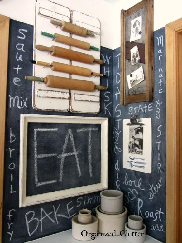 Framed Vintage Kitchen Ware #kitchenware