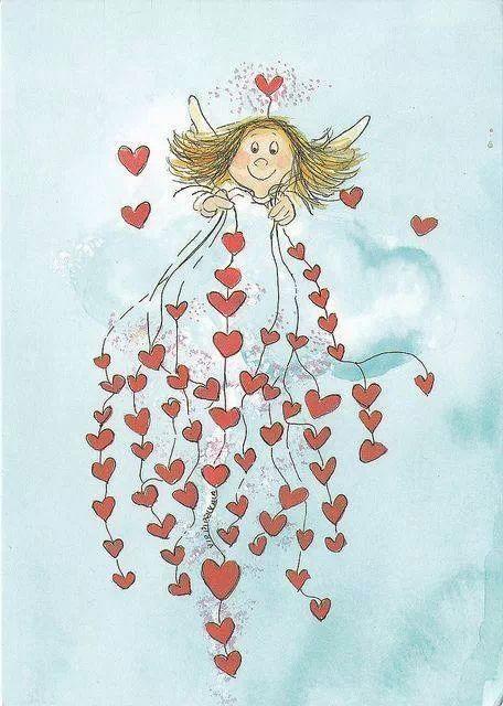 basteln und selbermachen heart angel - Ngel Muster Selber Machen