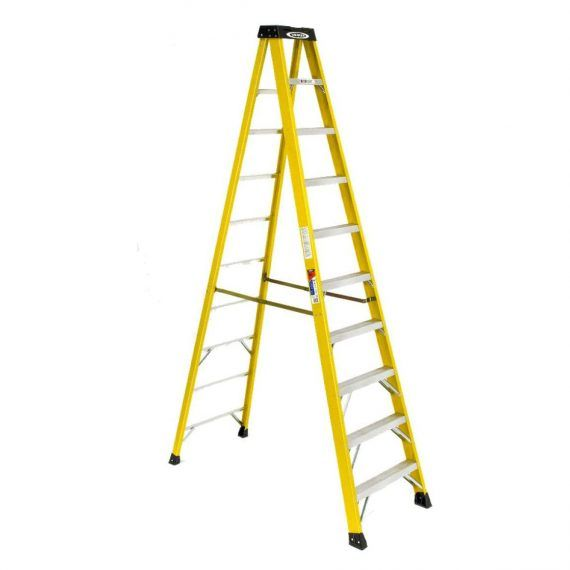 Werner 10ft Ia Fiberglass Step In 2020 Fiberglass Ladder Folding Ladder