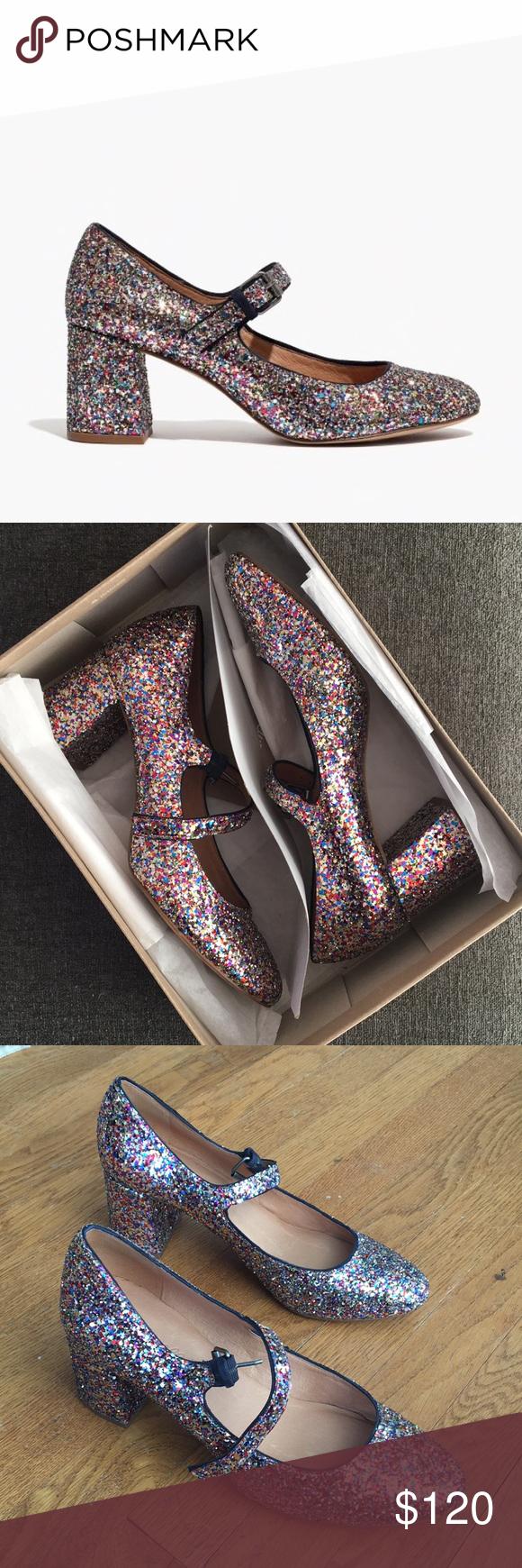 ebb7b20c3666 Madewell Zelda Mary Jane in Glitter Madewell Zelda Mary Jane in glitter  heels