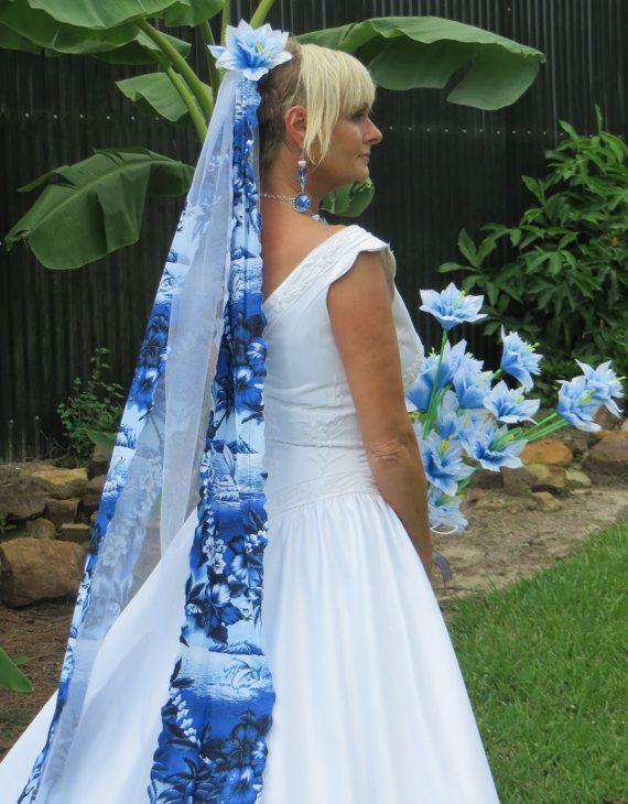 Dolphin Bridal Veils Destination Wedding Blue By Avcustomdesigns
