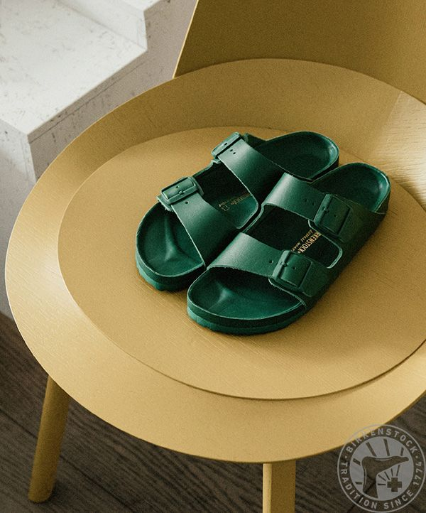 Hand wrapped Green leather BIRKENSTOCK ARIZONA. Special