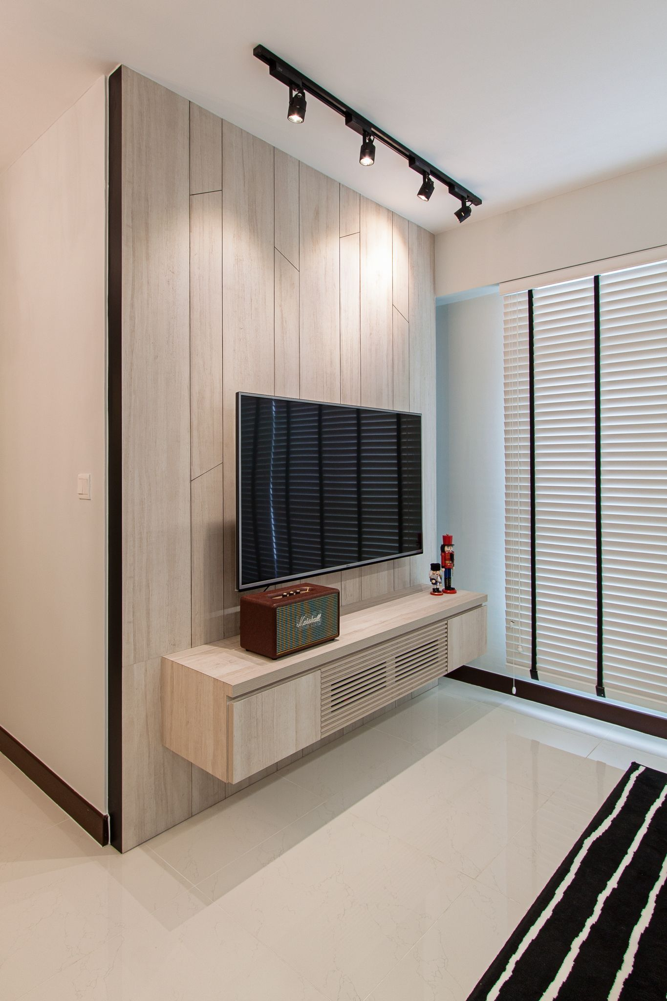 Compassvale Cres Feature Wall Living Room Living Room Scandinavian Scandinavian Interior Living Room