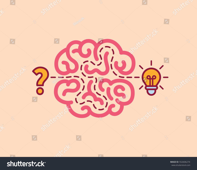Brainstorm concept idea innovation and solution vector