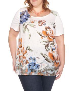 Plus Size Flower print blouse | Penningtons
