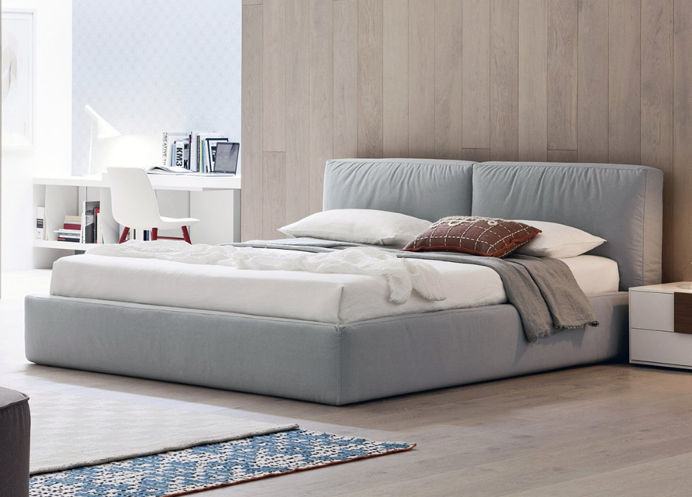 Brick Contemporary Bed in 2020 Best bedroom colors