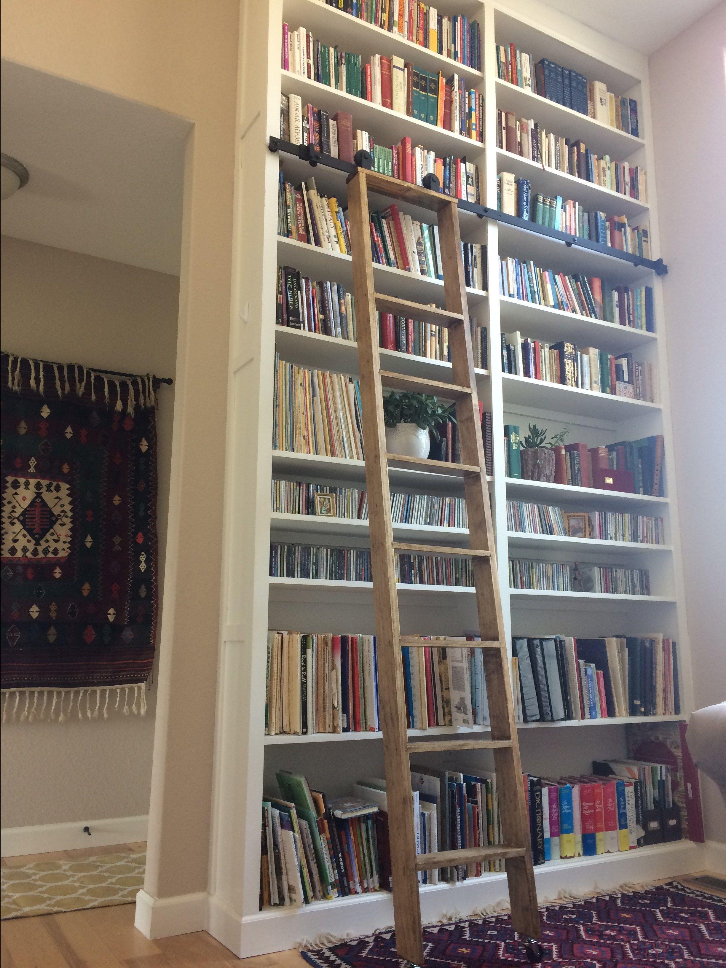 Diy library ladder on a budget ladder hardware for 175