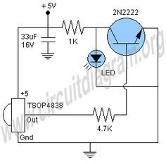 ir receiver circuit circuit diagram ir receiver pinterest rh pinterest com ir receiver circuit diagram pdf ir receiver circuit diagram pdf