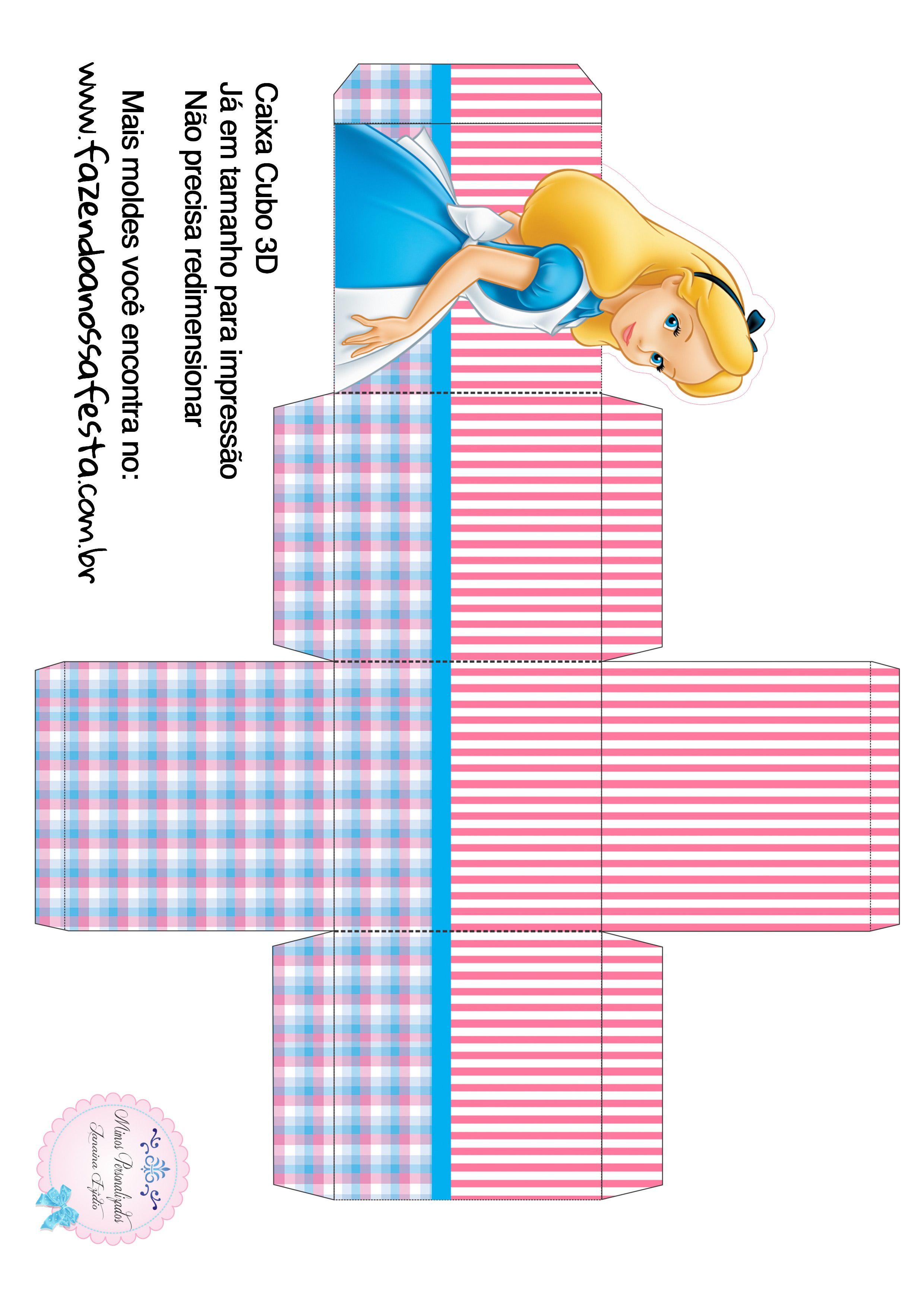 Caixa Cubo 3d Alice No Pais Das Maravilhas Alice No Pais Das